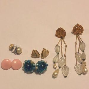 Jewelry - Vintage Clip On Earring Lot
